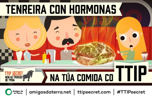 TTIP Postcard - Beef CaptionGalician-Galego